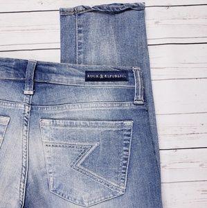 Rock & Republic Berlin Light Wash Skinny Jeans 10